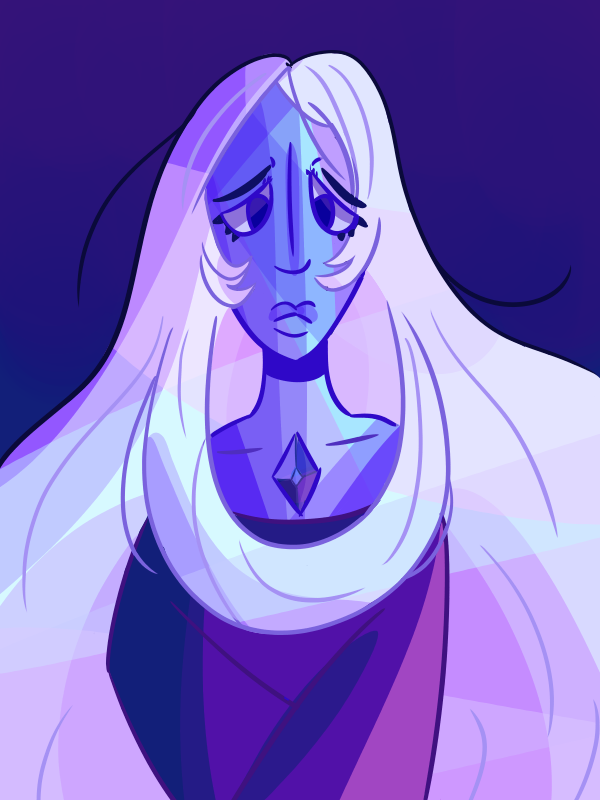 Blue Diamond was so beautiful I had to draw her I put it as mature content so people won't be spoiled,, (If anyone has avoided being spoiled)