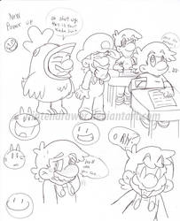 mario doodles 4 by Nintendrawer