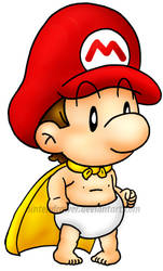 super baby mario by Nintendrawer