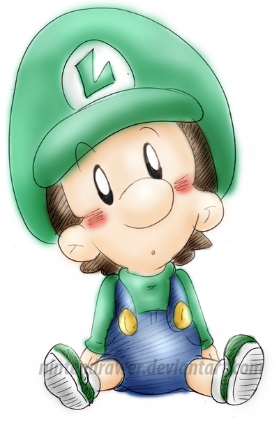 baby luigi 3 by nintendrawer