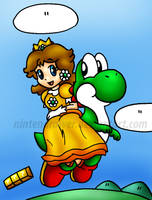 daisy and yoshi by Nintendrawer