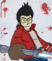 Travis Touchdown by Nintendrawer