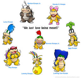 These are Bowser's kids... by Nintendrawer