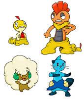 some pokemon by Nintendrawer