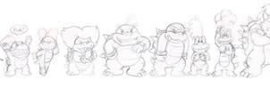 Kommission: Koopa family line up