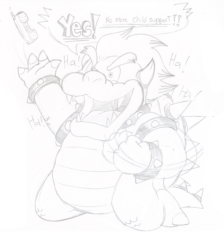 Commission: Bowser, you are NOT the father! by Nintendrawer