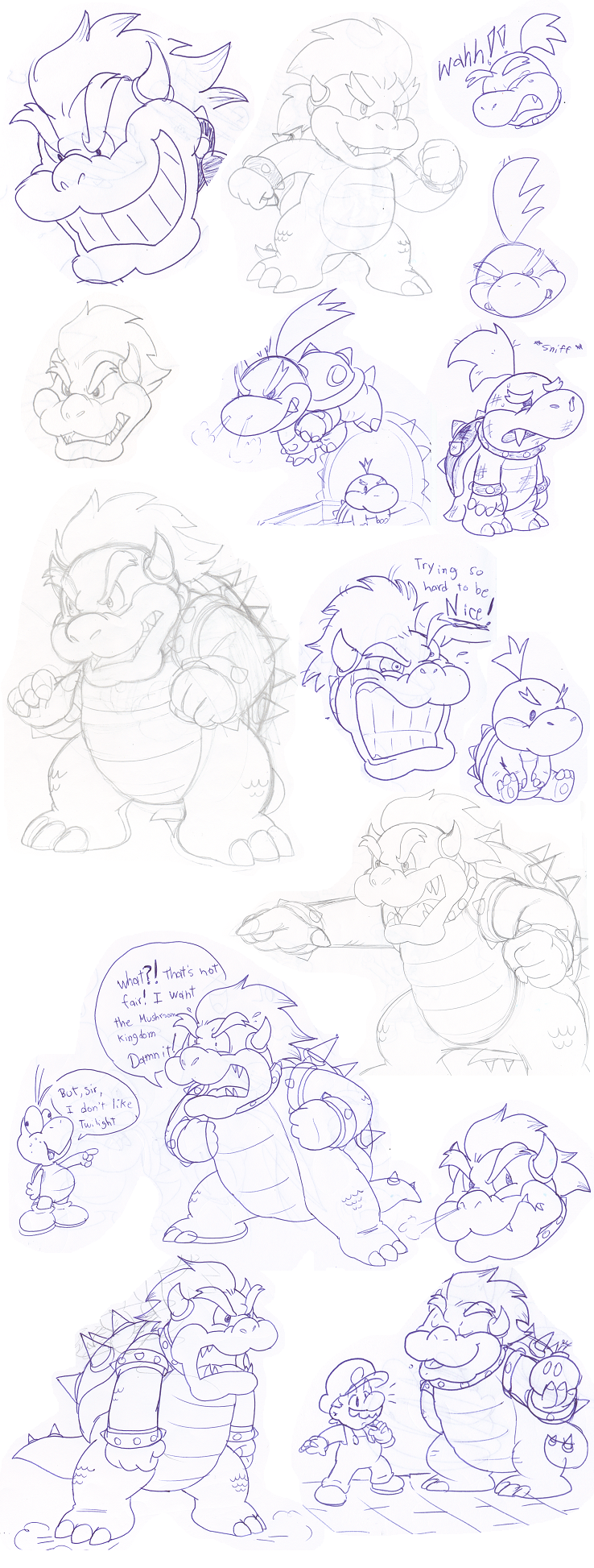 Doodles: Bowser by Nintendrawer