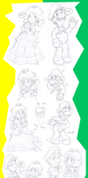 Doodles: Luigi and Daisy