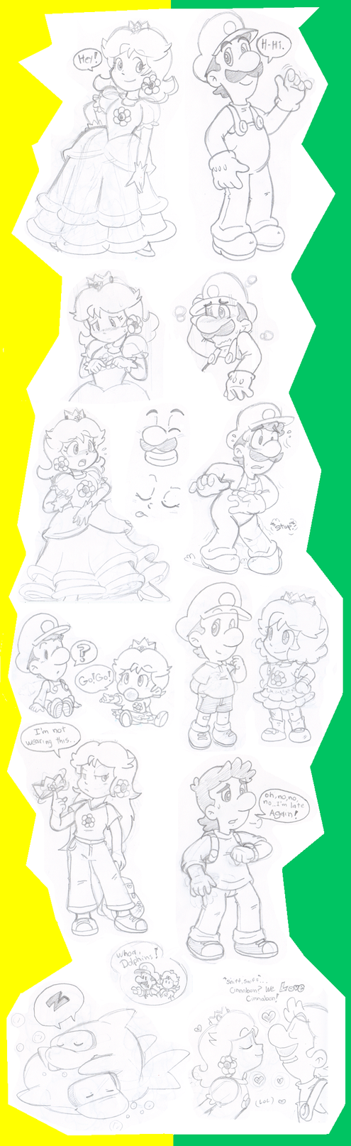 Doodles: Luigi and Daisy by Nintendrawer