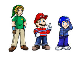 Commish: Dress up by Nintendrawer