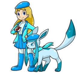 Commish: Flo and Glaceon by Nintendrawer