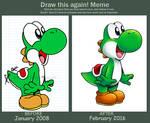 Draw This Again Meme: Yoshi