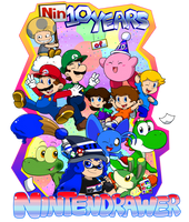 10 Years on DeviantArt! by Nintendrawer