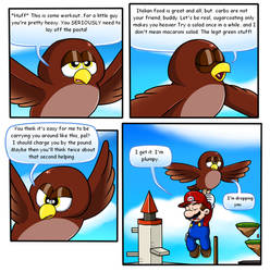Mario 64 Thing: Hoot by Nintendrawer