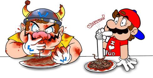 Collab: Ready, Spaghetti, GO! by Nintendrawer