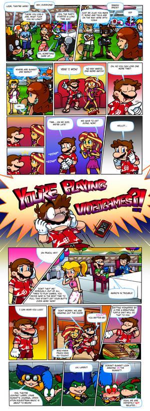 Commish: Mario X Equestria Girls: Gaming Mishap 2