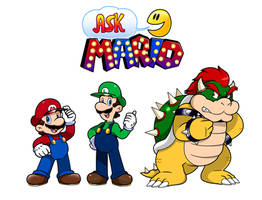 Commish: Ask Mario Cast by Nintendrawer