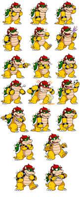 Ask Mario: Bowser Expression Sheet