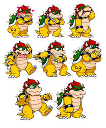 Ask Mario: Bowser Expression Sheet 2