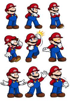 Ask Mario Expression Sheet 2