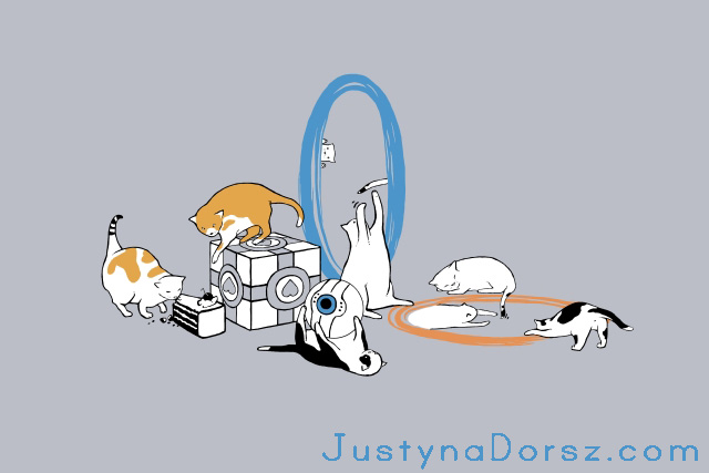 Portal Cats by JustynaDorsz