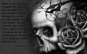 Skull Roses Wallpaper by RodgerPister