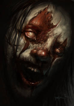 Evil Clown Speed Paint