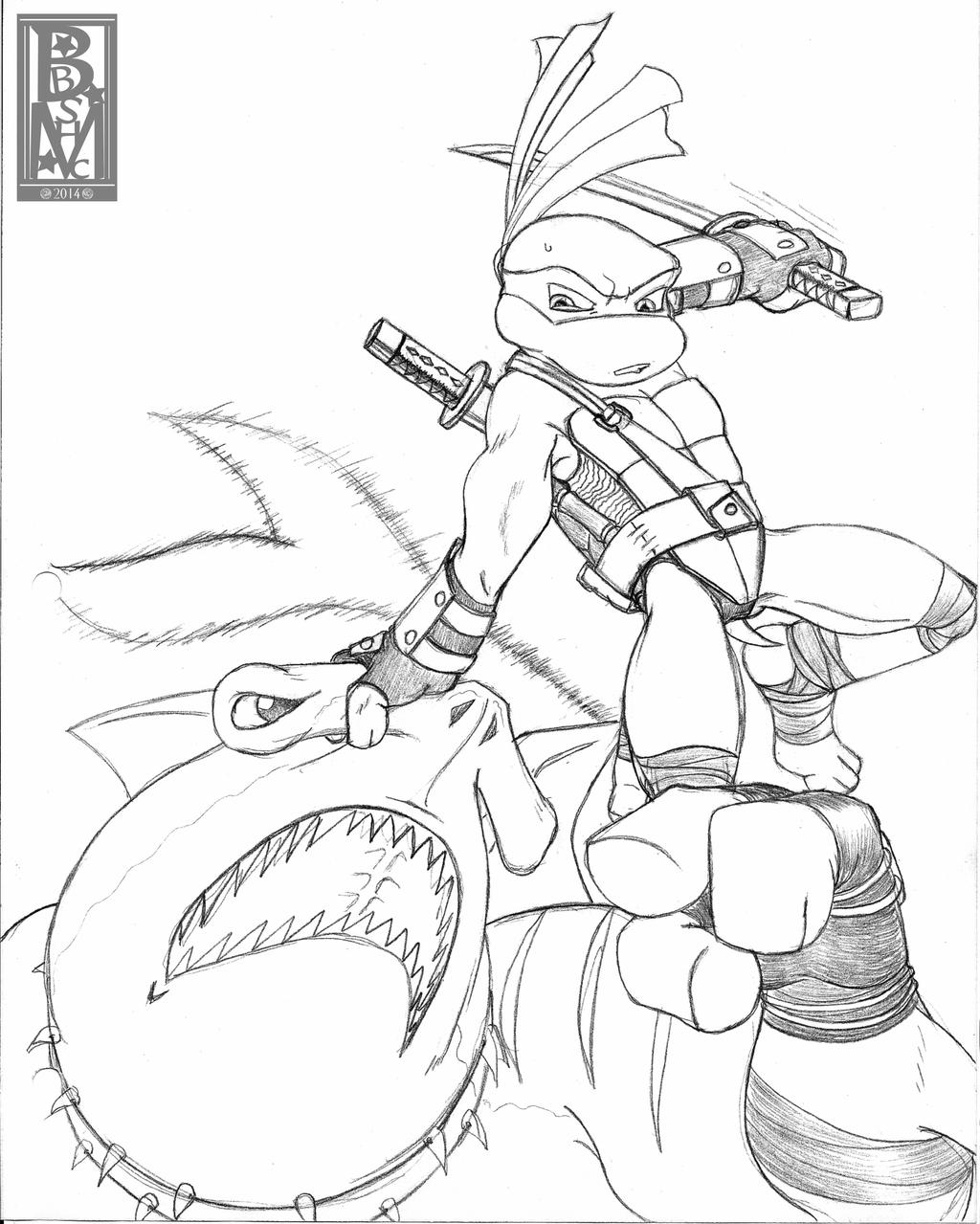 Line Art Ninja : Tmnt leo vs bludgeon line art by roseduelistbbshm on