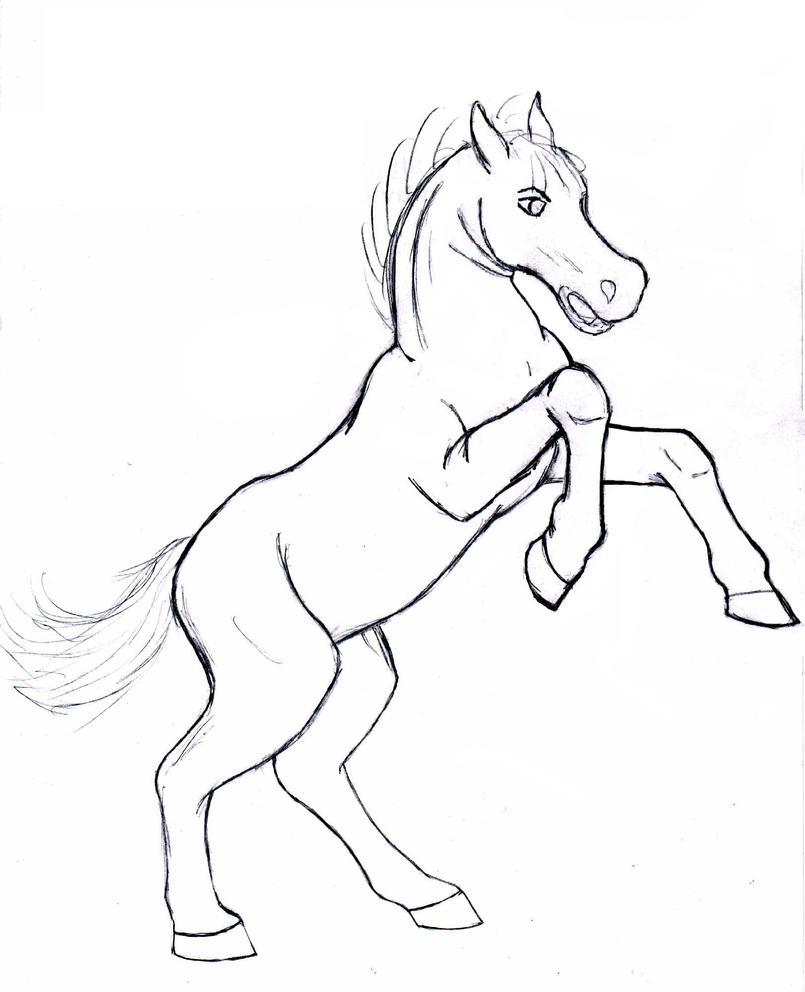 Rearing Horse By Duelistoftherose On Deviantart