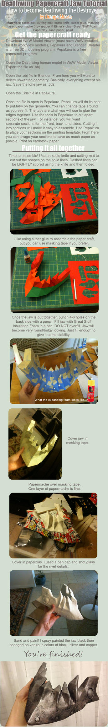 Deathwing Jaw Armor Tutorial by OrangeMoose