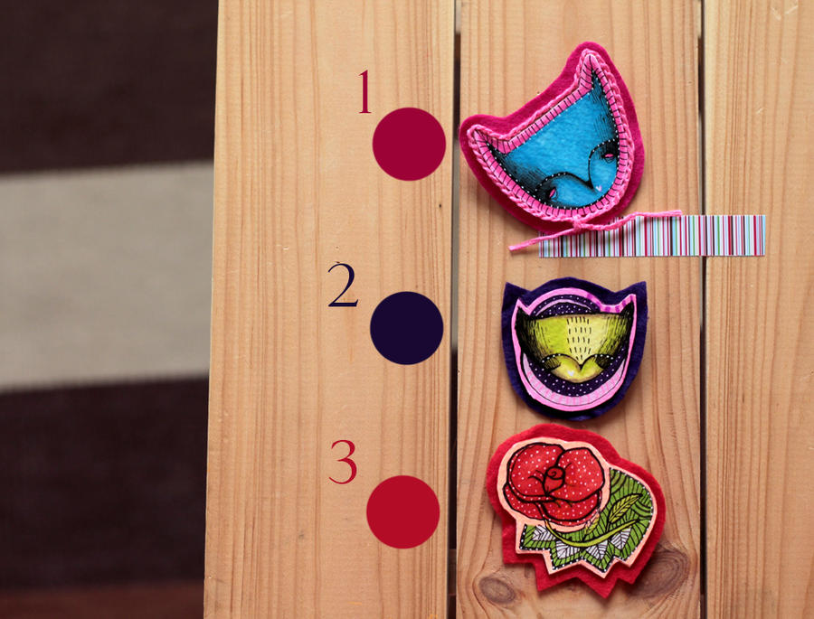 Brooches by LucyBumpkinova
