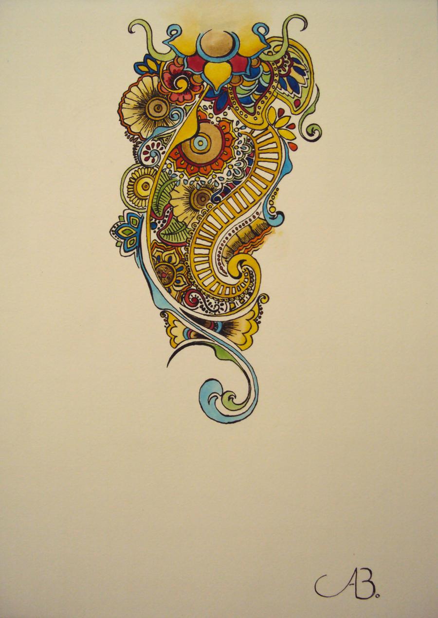 Inflicting Ink Tattoo Henna Themed Tattoos: Henna Inspired Shoulder Tattoo By StickyRicePlatter On