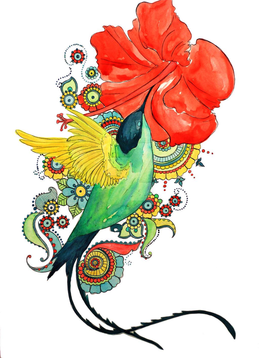hummingbird print version by stickyriceplatter hummingbird print version by stickyriceplatter