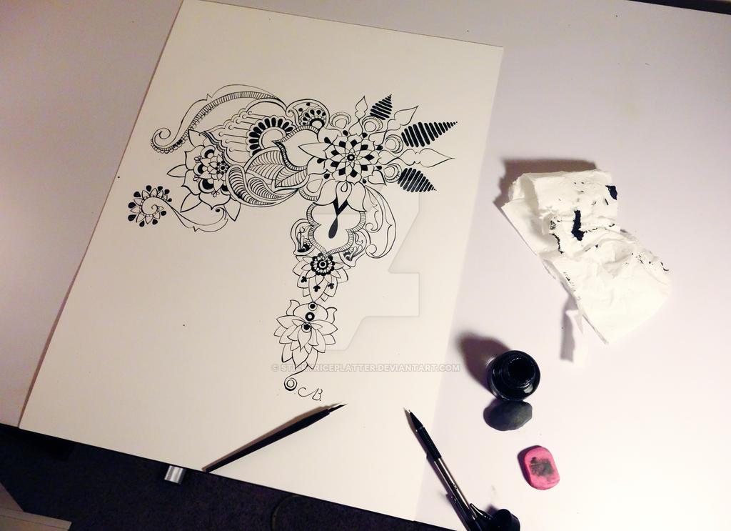 Lotus Inspired Shoulderarm Tattoo By Stickyriceplatter On Deviantart