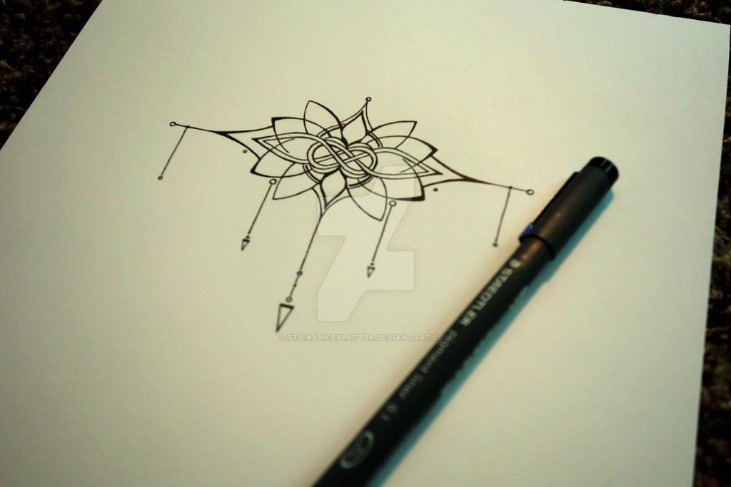 knot and lotus tattoo by stickyriceplatter on deviantart. Black Bedroom Furniture Sets. Home Design Ideas