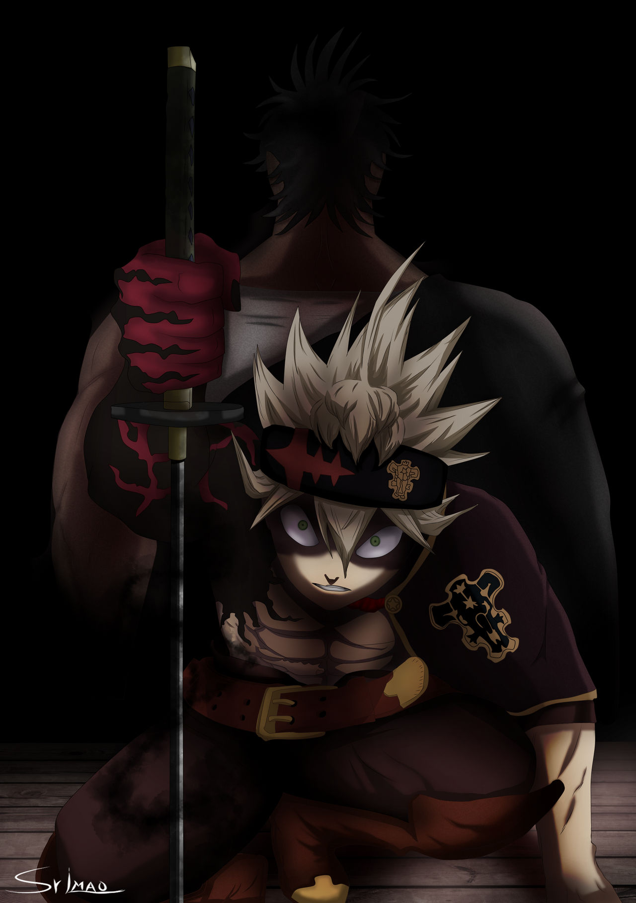Black Clover Asta And Yami By Srlmao On Deviantart He is extremely skilled in swordsmanship; black clover asta and yami by srlmao