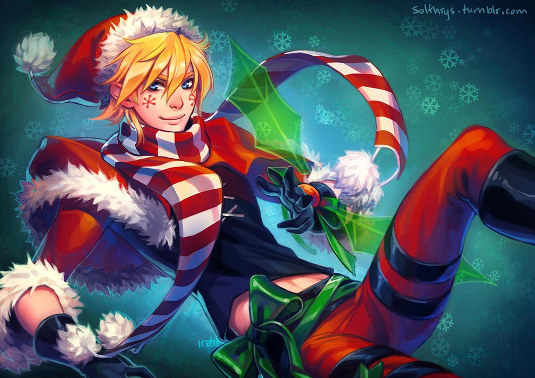 Christmas Ezreal for secret santa by irahi