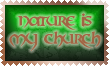 Nature is my Church Stamp by Leathurkatt-TFTiggy