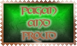 Pagan and Proud Stamp