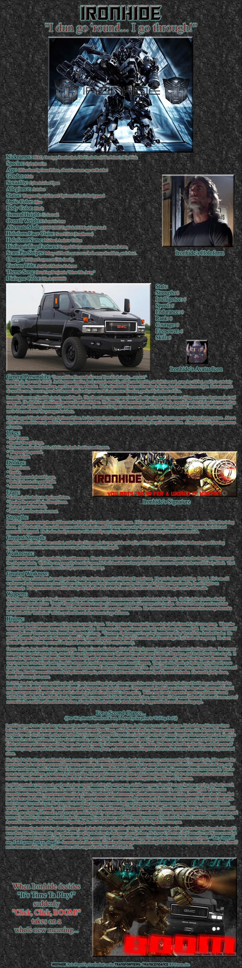 Ironhide RP Bio by Leathurkatt-TFTiggy