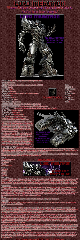 Megatron RP Bio by Leathurkatt-TFTiggy