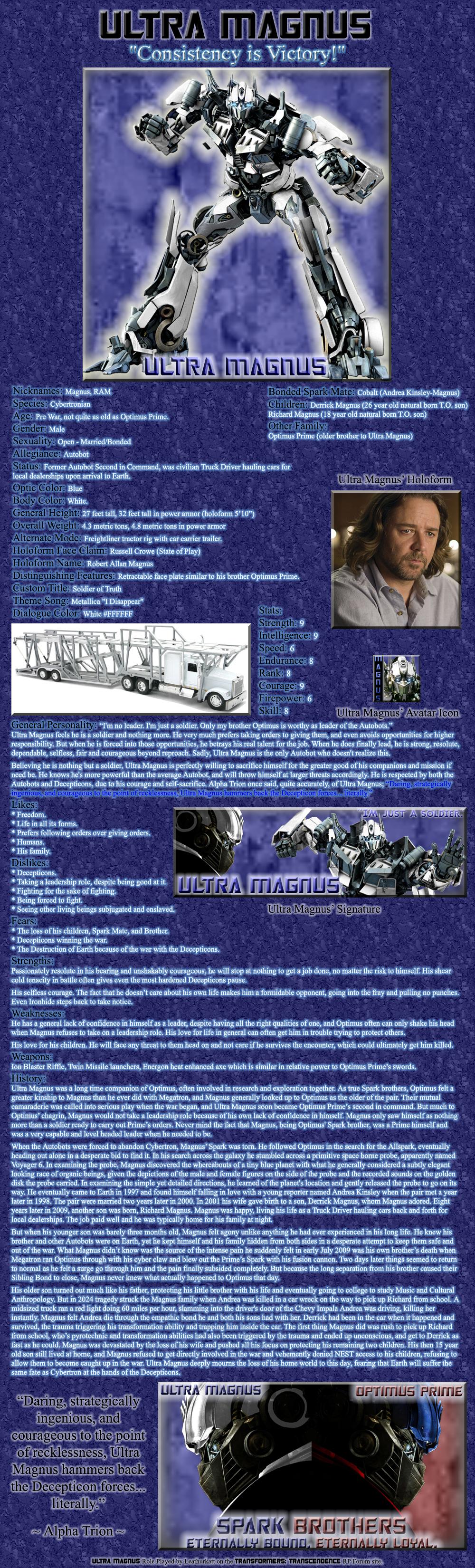 Ultra Magnus RP Bio by Leathurkatt-TFTiggy