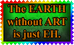 Earth Art Eh stamp by Leathurkatt-TFTiggy