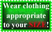 Size Appropriate Stamp by Leathurkatt-TFTiggy
