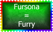 Fursona is Furry Stamp by Leathurkatt-TFTiggy