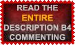 Read Description Stamp by Leathurkatt-TFTiggy