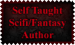 Self Taught Scifi-Fantasy Author Stamp by Leathurkatt-TFTiggy