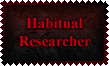 Habitual Researcher Stamp by Leathurkatt-TFTiggy