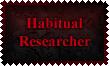 Habitual Researcher Stamp by Leathurkatt-TFTiggy