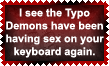 Typo Demons stamp by Leathurkatt-TFTiggy